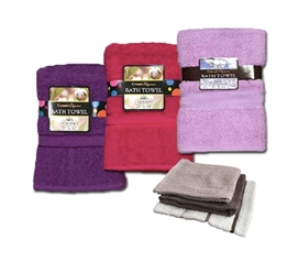 Dry Yourself In College Luxury - Girl's Dorm Shower Towel & 3 Piece Wash Cloth Set