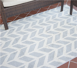 Broken Arrow Rug - Silver & Ivory
