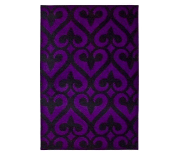 Xl Purple Rug: Black And Purple Best Supplies For