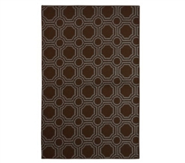 Mosaic Circle College Rug - Mocha and Seafoam