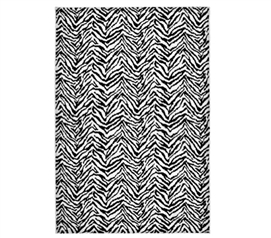 Zebra 4' x 6' Rug - Black and White