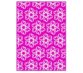 Hearts Blossom Rug - Pink and White