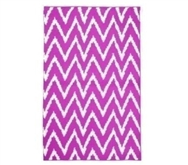 Cool Stuff For College - Wavy Chevron Dorm Rug - Pink and White - Best Dorm Decor