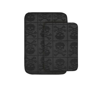 Add Cool Skulls - Skulls Bath Mats - 2-Piece Set - Decor For Dorms