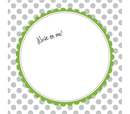 Decorations for Dorms - Canvas Kudos - Signable Wall Canvas - Scallop Circle Gray And Light Green