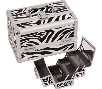 College Girl Cosmetic Case - Zebra Case With Mirror Dorm Essentials
