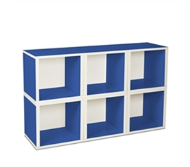 6 Modular Cubes Shelf Blue - Way Basics Dorm - Cool Dorm Storage