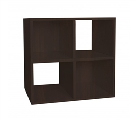 Quad Shelf Organizer Espresso - Way Basics Dorm - Keep Dorm Organized