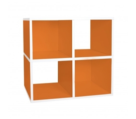 Quad Shelf Organizer Orange - Way Basics Dorm - Keep Dorm Organized