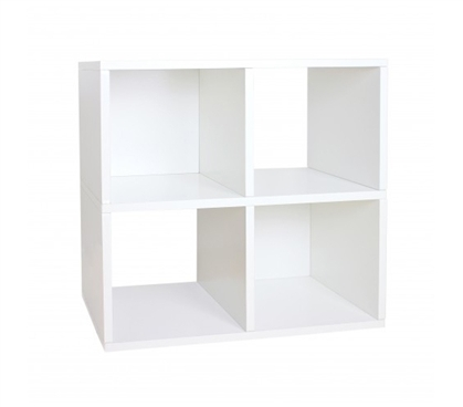 Cool Items For Dorms - Quad Shelf Organizer White - Way Basics Dorm - Dorm Organization Essentials