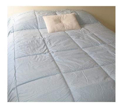 College Ave 100% Cotton Twin XL Comforter - Starlight Blue - Calming Color
