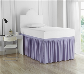 Stylish Twin XL Bedding Decor Pretty Purple Orchid Petal Dorm Sized College Bed Skirt Panel with Ties