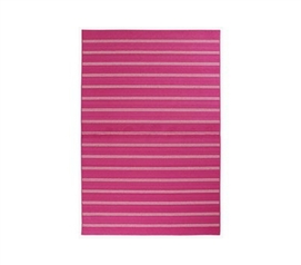 Pink Will Liven Things Up - Classic Stripes College Rug - Pink - Enhance Dorm Decor