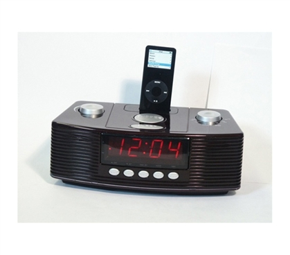 Am Fm Mp3 Clock Radio With Docking Alarm Clocks For
