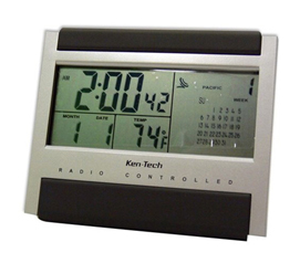 Atomic Radio Controlled LCD Alarm Clock Dorm room alarm clocks