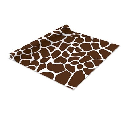 Self Adhesive Shelf Liner - Cocoa Giraffe - Cool Dorm Decor