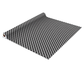 Self Adhesive Shelf Liner - Black Designer - Cool Dorm Decorating