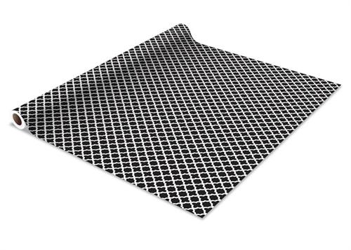 Self Adhesive Shelf Liner Black Designer Dorm Wall