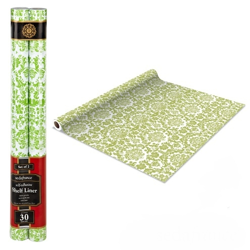 Self Adhesive Shelf Liner Mint Green Damask Dorm Decor