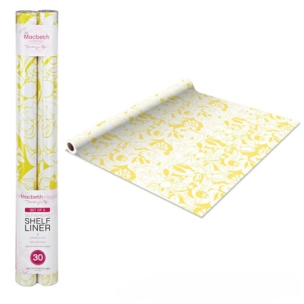 Self Adhesive Shelf Liner Sketched Yellow Floral