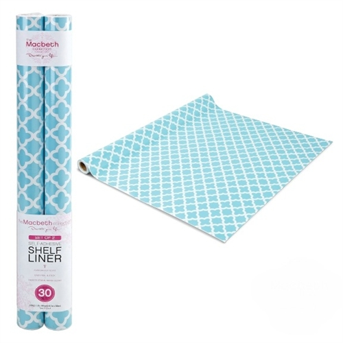 Self Adhesive Shelf Liner Aqua Designer Dorm Decor Stick