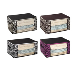 Dorm Bedding Storage Box - 4 Animal Prints Available College Space Saver