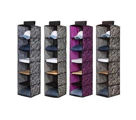 6 Sweater Shelf Organizer - 4 Animal Prints Available Dorm Stuff