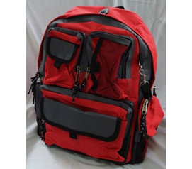 Basic Backpack - Storage Pockets College Backpack - Red - Needed For Dorm Life