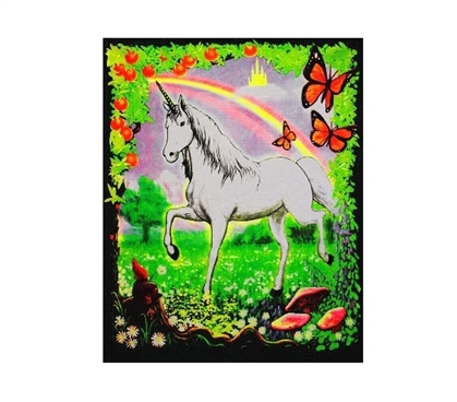Dorm Room Decor Unicorn Blacklight Reactive Cloth Wall Hanging Dorm Room Decorations