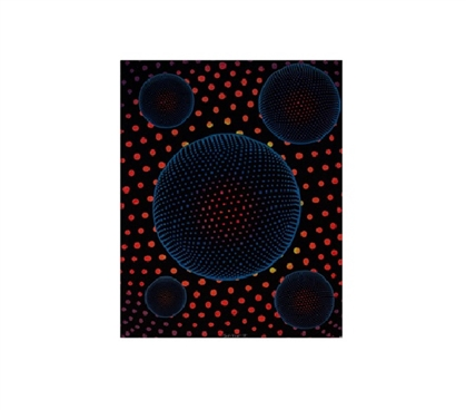 5x The Disc-o Blacklight Reactive Cloth Wall Hanging College Wall Decor Dorm Room Wall Decorations