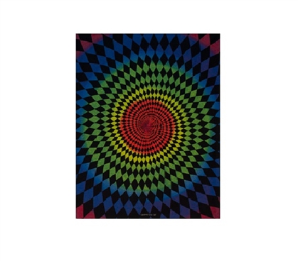 Dorm Decor Items - Diamond Daze Blacklight Reactive Cloth Wall Hanging - College Wall Decor