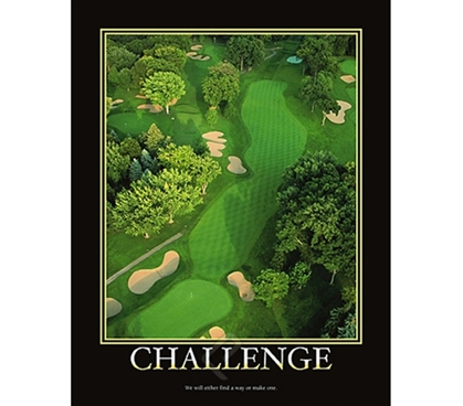 Challenge - College Dorm Room Poster inspirational dorm room decorating poster for college students