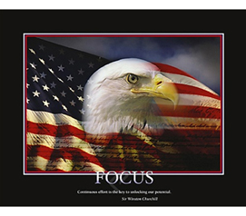 Focus Eagle College Dorm Room Poster easy dorm room poster shows strong willed eagle with great focus