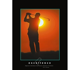 Excellence Inspirational College Dorm Poster college student poster features Excellence for inspiration