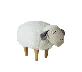 Molly - Fluffy Sheep - Dorm Room Seating Stool