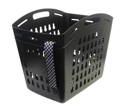 Hands Free Laundry Basket With Adjustable Strap - Black
