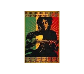 Playing Music From His Soul - Bob Marley Tapestry