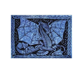 Fierce Blue Dragon Tapestry