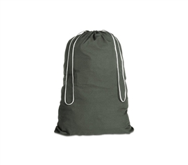 100% Cotton Laundry Bag - Forest Black