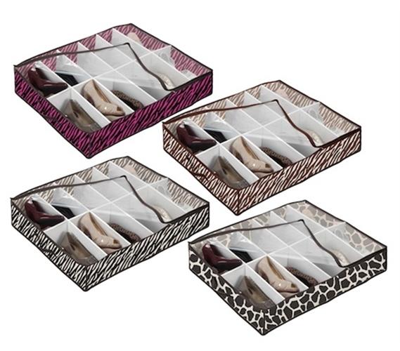 Under Bed Shoe Storage 4 Animal Prints Available Dorm
