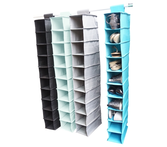 Vibrant 10 Shelf Shoe Organizer Storage Closet Organizers