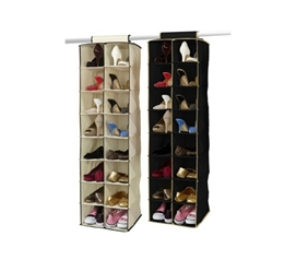 Multi Storage Options - 16-Pocket Double Hanging Shoe Shelf