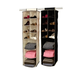 Closet Organization Must Have - 3 Shelf / 8 Pocket Closet Organizer (Black / Cream)