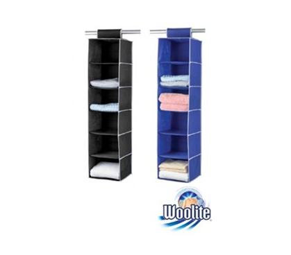 Practical Storage Options - 6 Sweater Shelf Organizer - Black or Blue