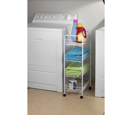 4-Tier Storage Cart College dorm organizer