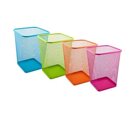 A Must-Have Dorm Item - Vibrant Mesh Trash Can Square - Colorful And Vibrant