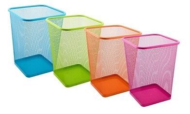 Vibrant Mesh Trash Can Square Cool Stuff College