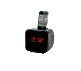 FM Clock Radio With iPhone/iPod Docking Station Cool Dorm Room Ideas