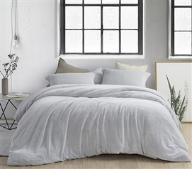 Coma Inducer Twin XL Duvet Cover - Frosted - Granite Gray