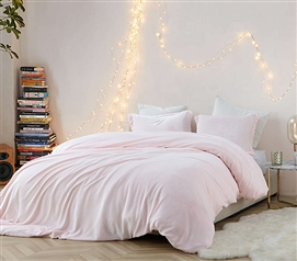 Coma Inducer Twin XL Duvet Cover - Frosted - Rose Quartz